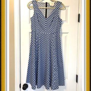 Kate Spade Polka Dot Dress Blue Black